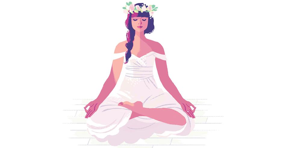 Image result for bride in meditation