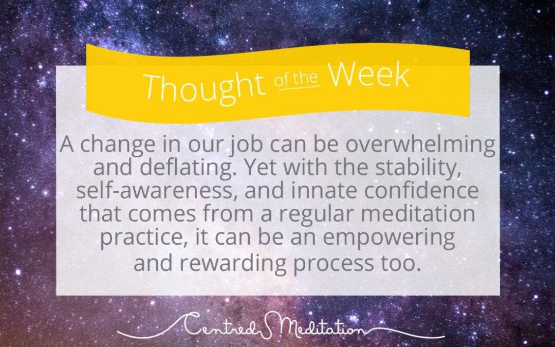 Meditation and Job Interviews