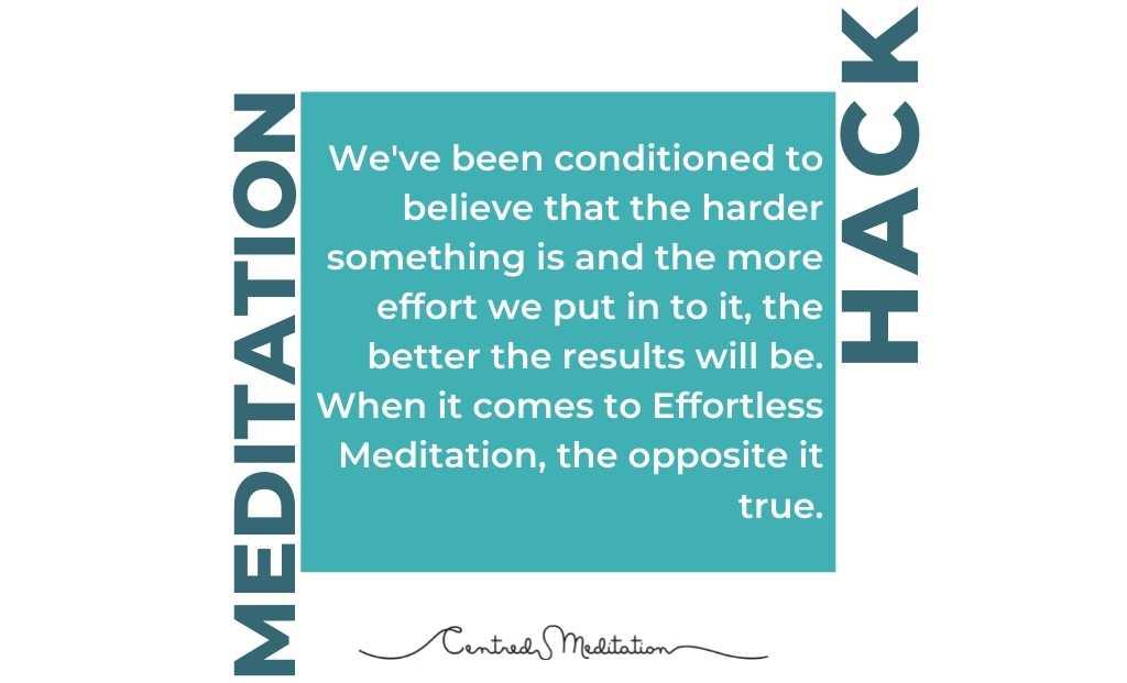 #MeditationMyth: All meditation is hard.